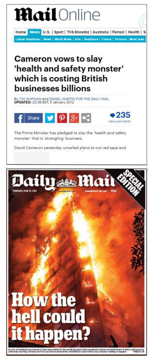 PRIVATISATION MEDIA COMPLICITY AMNESIA BASU daily mail grenfell