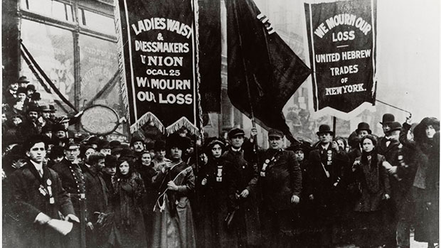 sylvia pankhurst suffragette in america katherine connelly shirtwaist factory women working class labour strike