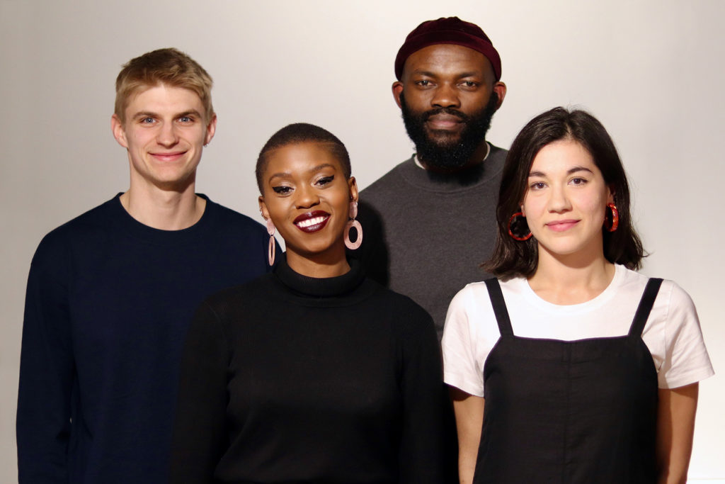 Outspoken authors Ben Tippet, Lola Olufemi, JJ Bola and Natalie Fiennes