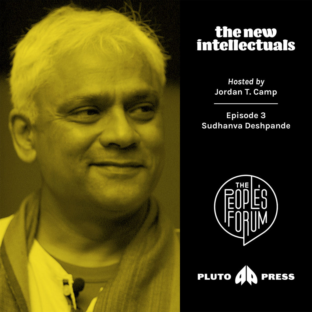 Graphic for 'The New Intellectuals' podcast - actor Sudhanva Deshpande